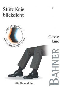 Bahner Classic Line Blickdicht Stützkniestrumpf 1 Paar