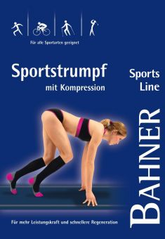 Bahner Sports Line Kompression Sportstrumpf 1 Paar