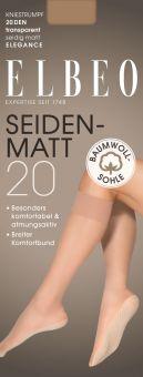 Elbeo Seidenmatt 20 BW Sohle Kniestrumpf 3er Pack