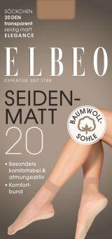 Elbeo Seidenmatt 20 BW Sohle Ankle Sock 3-Pack