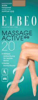 Elbeo Massage Active 20 Kniestrumpf 3er Pack