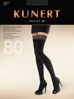 Kunert Velvet 80 Stay Up 1 Pair