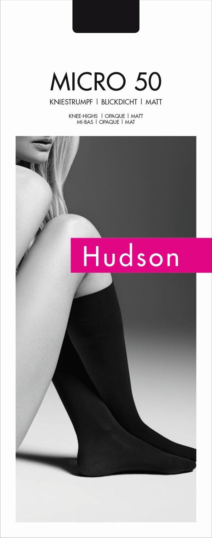 Hudson Damen Matt Fein Kniestr/ümpfe Micro 50 DEN